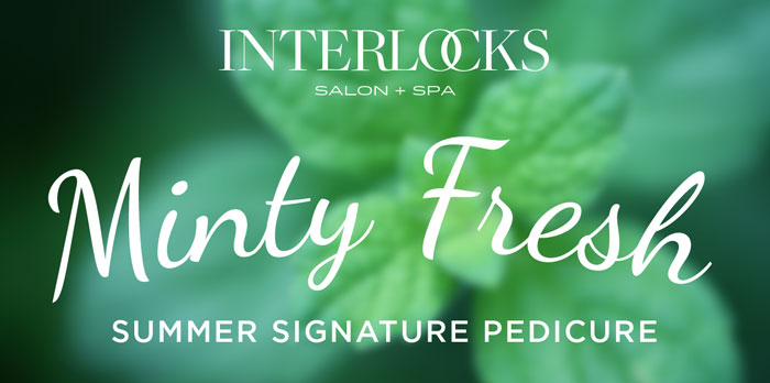 minty fresh summer seasonal pedicure header