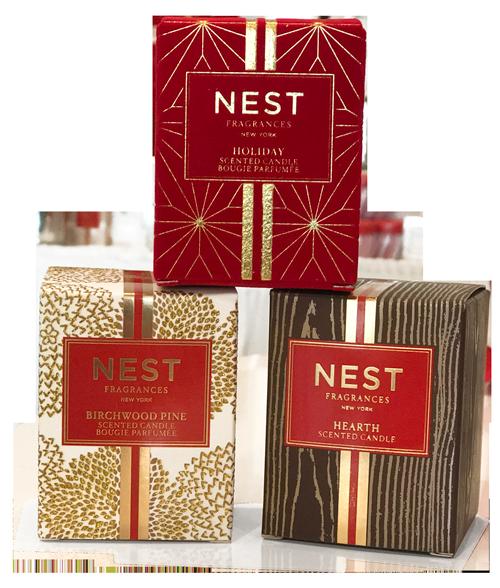 3 Nest Holiday Candles Interlocks Salon Medspa Wellness Newburyport Ma
