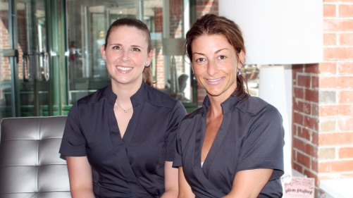 INTERLOCKS Massage Therapists Chrissy + Erin
