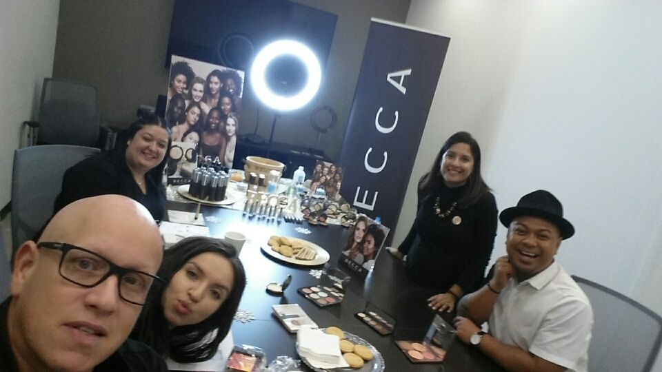 INTERLOCKS Guest Makeup Artist Ivan Flores attending BECCA Cosmetics training