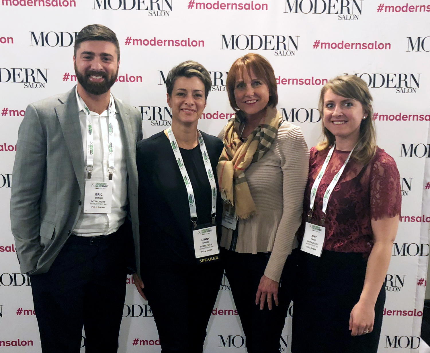 INTERLOCKS marketing and management team at Data-Driven Salon Summit 2018