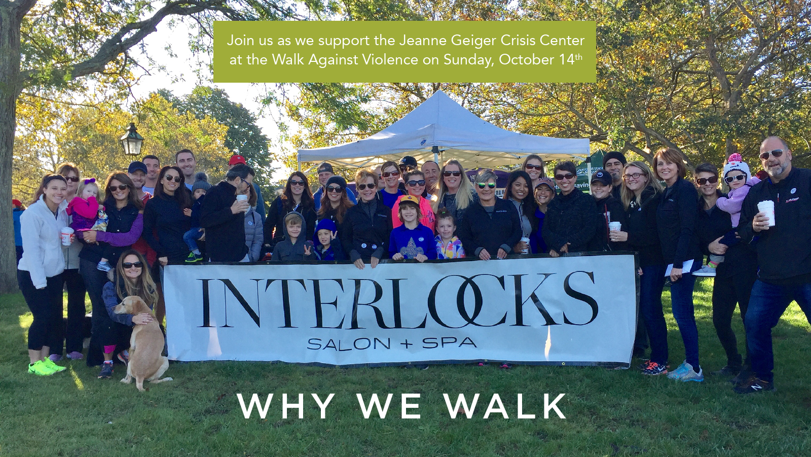 The INTERLOCKS team at the 2017 Walk Against Domestic Violence