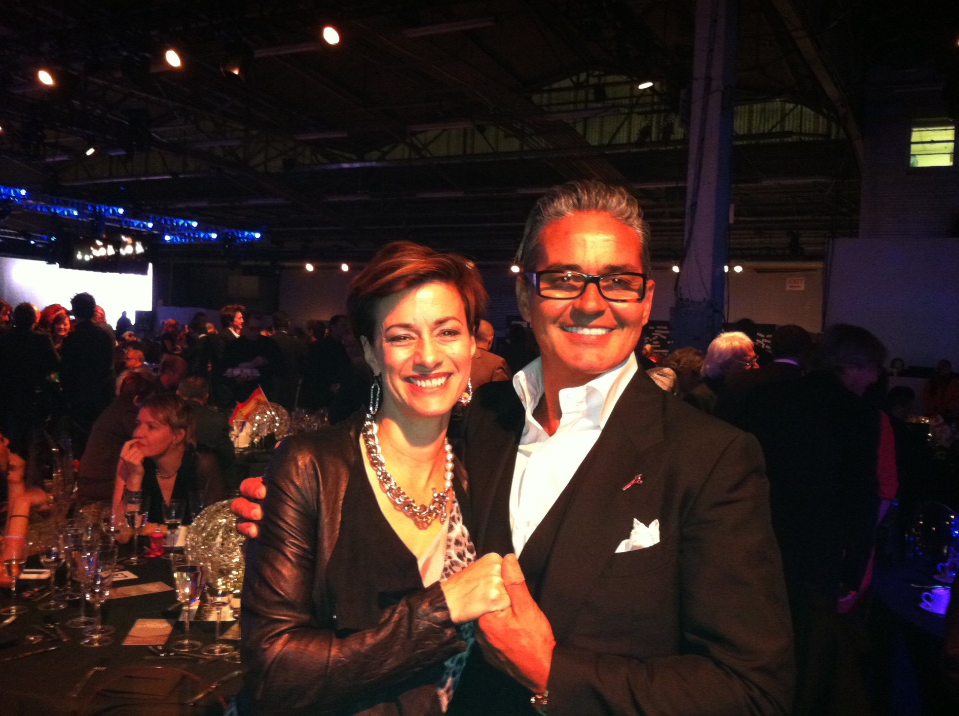 INTERLOCKS Owner Ginny Eramo with hairstyling legend Oribe Canales